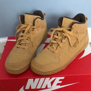 Nike Air Force 1 Leather Hightop Shoes 6Y